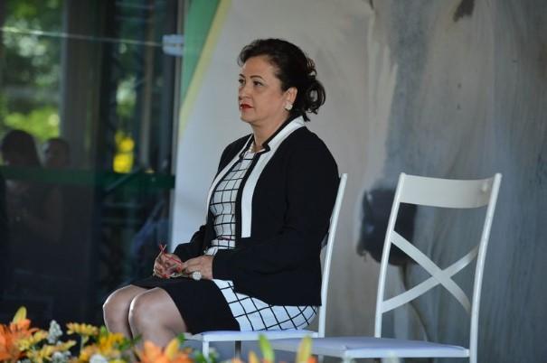 Kátia Abreu na cerimônia de posse do Ministério da Agricultura (Foto: Valter Campanato/Agência Brasil).