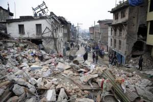 Destruição de prédios em Katmandu, após terremotoAbir Abdullah/EPA/Agência Lusa