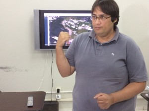 Meteorologista da Unitins, José Luiz Cabral. (Foto Carlos de Bayma)