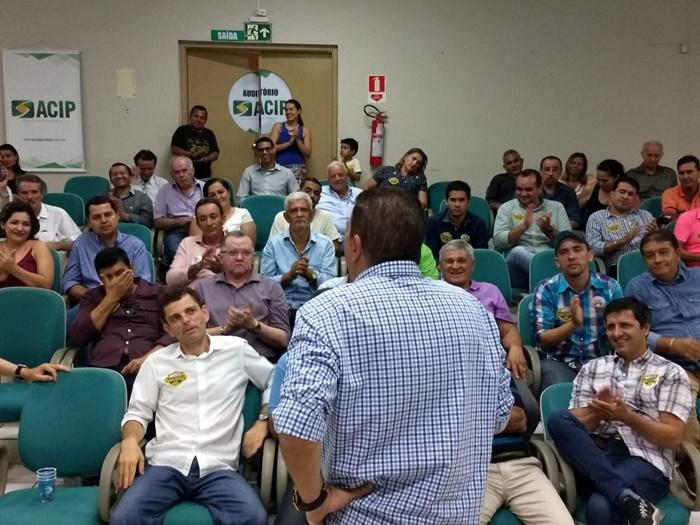 Em Paraíso, Amastha garante a empresários política fiscal voltada ao desenvolvimento, atração de investimento e solução para segurança