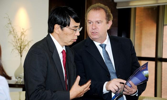 Governo do Tocantins recepciona embaixador do Japão do Palácio Araguaia