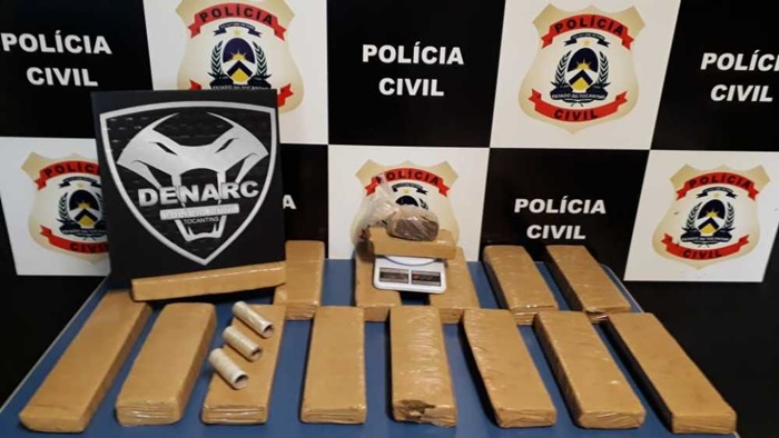 Polícia Civil apreende mais de 20 kg de maconha e prende três suspeitos por tráfico de drogas em Palmas