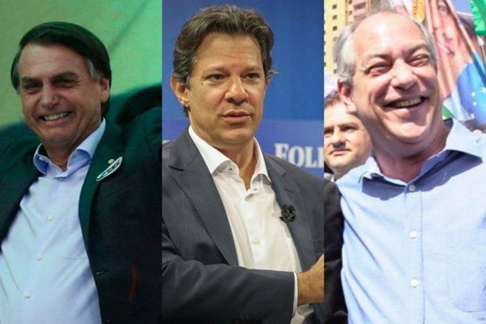 CNT/MDA: Bolsonaro (28,2%) e Haddad (25,2%) empatados tecnicamente