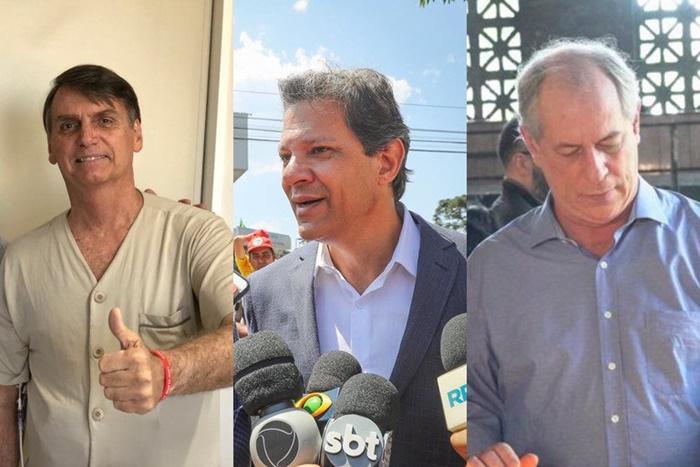 Ibope: Bolsonaro tem 28%; Haddad vai a 22% e Ciro mantém 11%