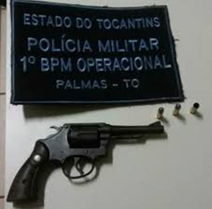 Suspeito é detido pela PM por efetuar disparos de arma de fogo na região Sul de Palmas