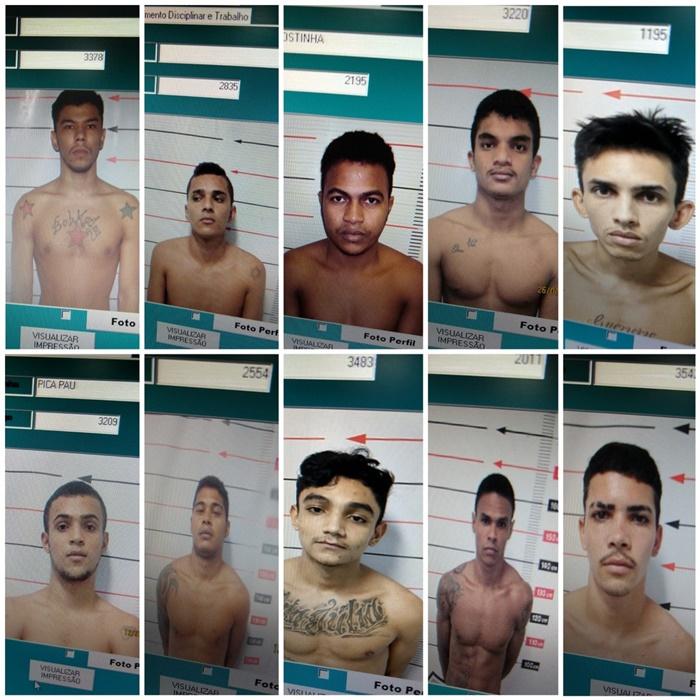 Veja fotos dos detentos que fugiram com reféns do presídio Barra da Grota
