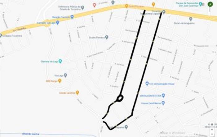 Duas importantes vias de ligação em Araguaína têm sentido único estendido