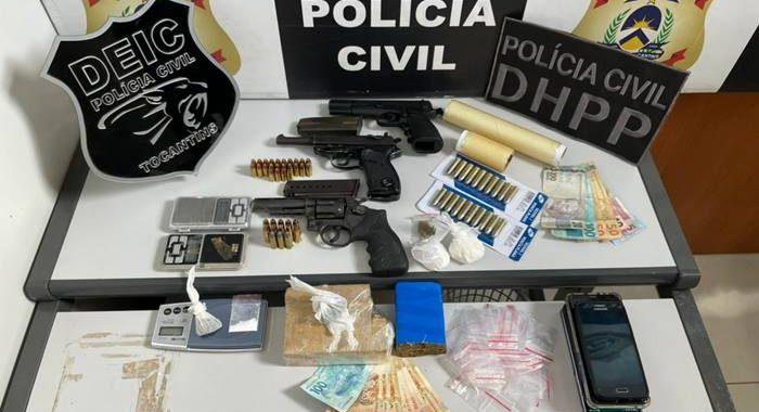 Em operação contra a criminalidade, Polícia Civil prende em Gurupi cinco suspeitos por tráfico de drogas e apreende armas de fogo e entorpecentes