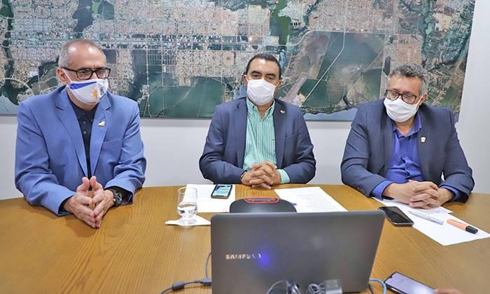 Vice-governador Wanderlei Barbosa participa de reunião com governadores e ministro da Saúde