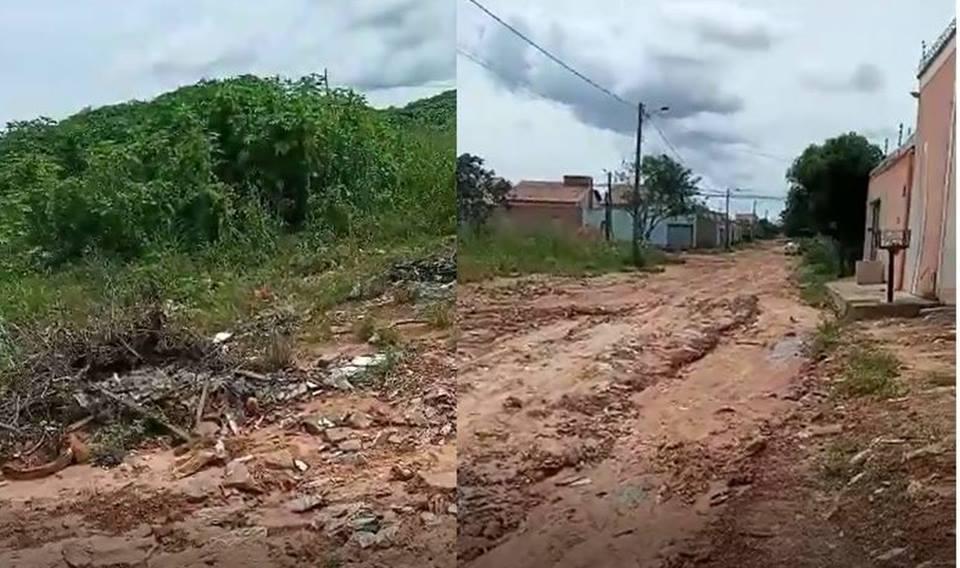 Moradores do setor Ana Maria cobram pavimentação asfáltica das ruas do Bairro