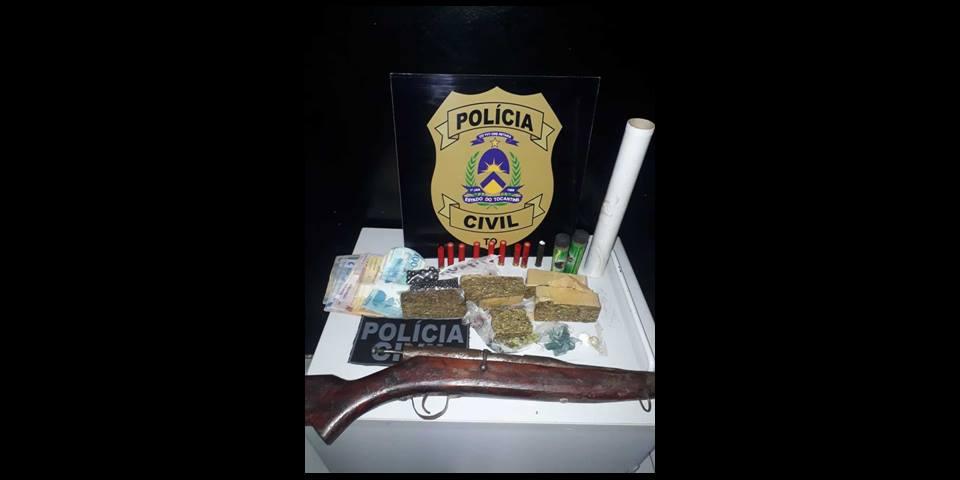 Polícia Civil prende homem suspeito por tráfico de drogas em Colméia