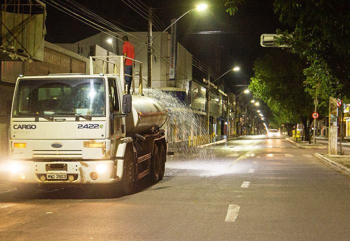 Prefeitura realizou desinfecção de vias públicas e unidades de saúde em Gurupi