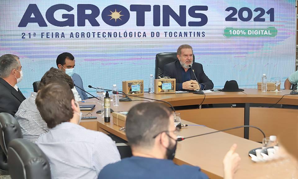 Governador Carlesse reforça investimento em tecnologia para o agro ao lançar a Agrotins 2021 100% Digital