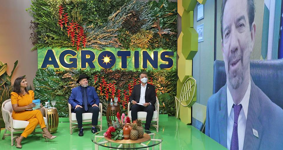Governador Carlesse destaca potencial do agro tocantinense e faz convite a investidores na abertura da Agrotins 2021 100% Digital
