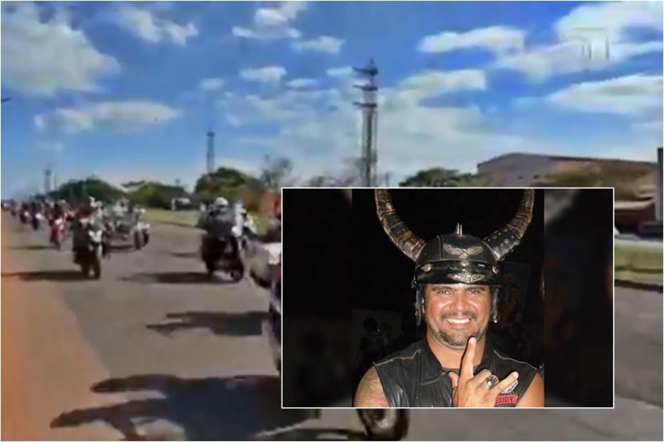 Motociclistas fazem cortejo após a morte do fundador de motoclube por Covid-19 em Araguaína
