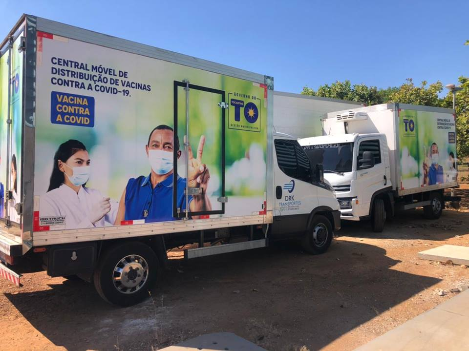 Tocantins receberá mais 43 mil doses de vacina contra Covid-19 e inicia distribuição em Unidades Móveis