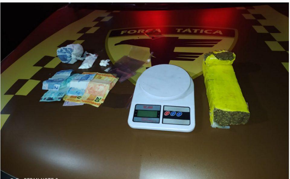 Homem é preso pela PM por tráfico de drogas em Araguaína