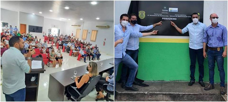 Vice-governador Wanderlei Barbosa inaugura Núcleos de Identificação em Itapiratins e Pequizeiro